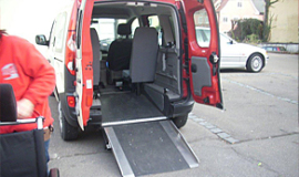 Rollstuhlfahrten der Taxi Transporte Fischer Burgau